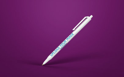 Pen Render Mockup Balancing Over a Surface 23474
