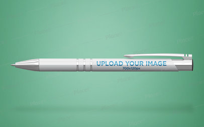 Stylish Pen Mockup Floating on a Customizable Background 23476
