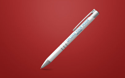 Pen Mockup Render Tilted over Plain Background 23478