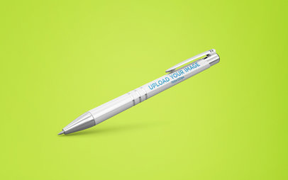 Pen Mockup Tilted on Background 23479