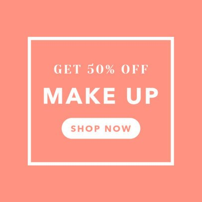 Makeup and Cosmetics Sale Banner Generator 269b