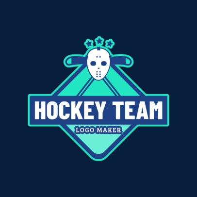 Ice Hockey Logo Maker 1562a