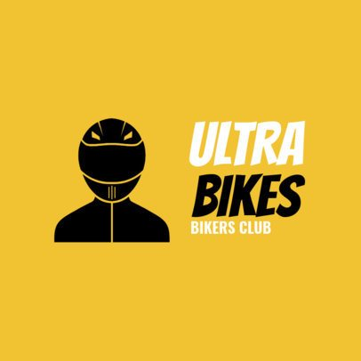 Bikers Club Logo Maker for a Cycling Team 1573b
