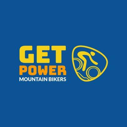 Mountain Bike Logo Maker for Cyclers 1573c