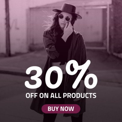 Ad Banner Template for Shopping Sale 742b