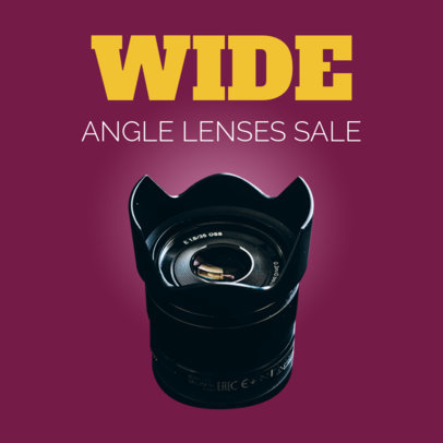 Camera Lense Sale Ad Banner Template 522b