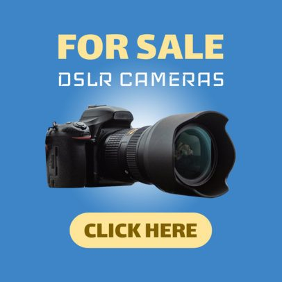 Ad Banner Maker for Professional Camera Sale 522a