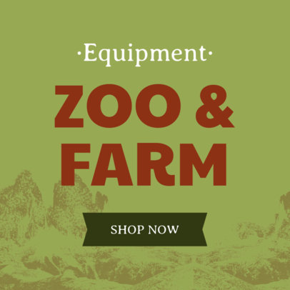 Banner Template for Zoo and Farm Equipment 380b
