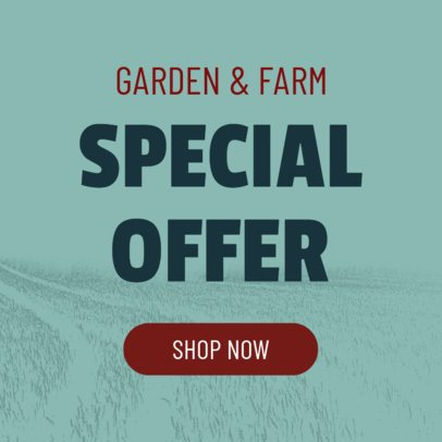 Banner Maker for a Garden and Farm Special Offer 380d