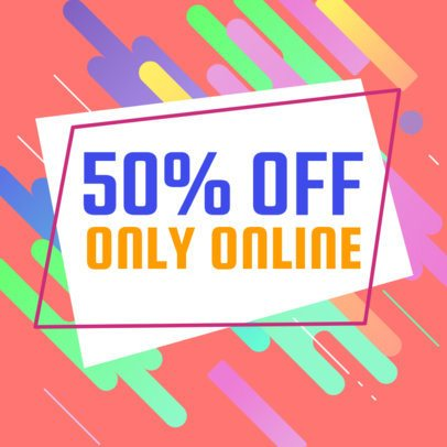 Colorful Banner Template for Online Sales 548d