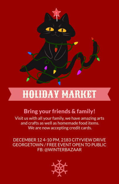 Christmas Flyer Maker for a Holiday Market 855