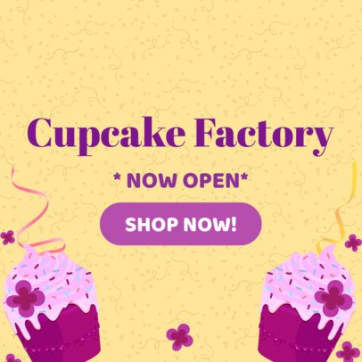 Online Banner Maker for Cupcake Shop Promos 383a