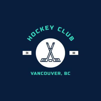 Ice Hockey Logo Maker for a Hockey Club 1563c