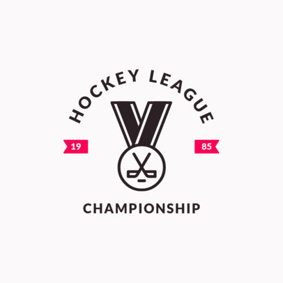 Hockey Logo Design Template for a Hockey League Championship 1563a