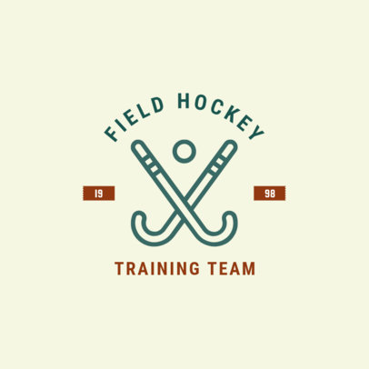 Field Hockey Logo Maker for a Training Team1563e
