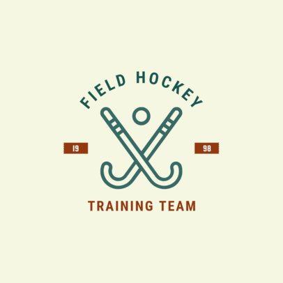 Field Hockey Logo Maker for a Training Team1563e
