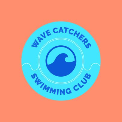 Swimming Club Logo Maker with Wave Graphic 1577c