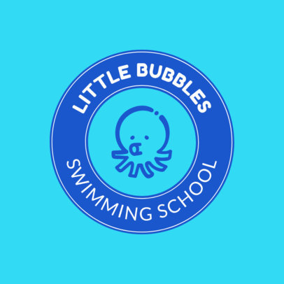 Swimming School Logo Maker for Kids' Swimming 1577d