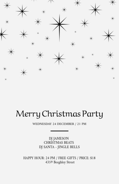 Xmas Party Flyer with Sparkling Stars 849a