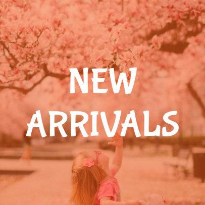 Pink Online Banner Maker for New Arrivals 16587c