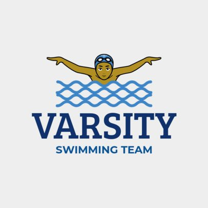 Swimming Team Logo Maker 1576b