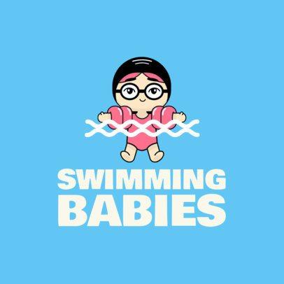 Baby Swimming Logo Maker 1576e