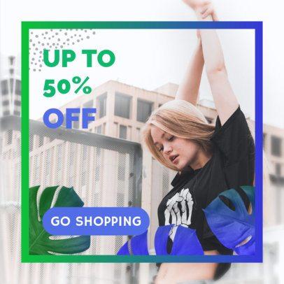 Half Off Discount Ad Banner Maker 268a
