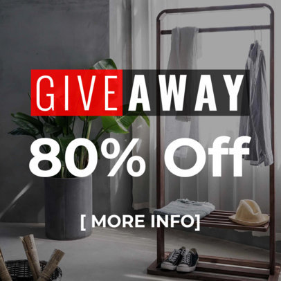 Online Ad Banner Maker for Furniture Giveaway 270e