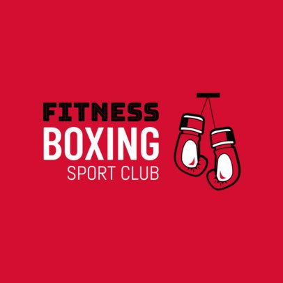 Boxing Logo Maker for a Sports Club 1583c