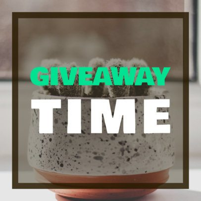 Giveaway Ad Banner Creator for Pottery Store 532a