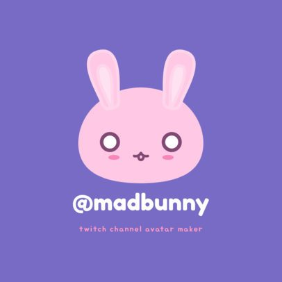Kawaii Avatar Logo Maker for a Twitch Channel 1462a