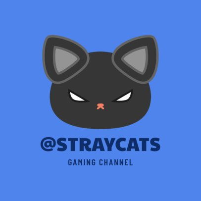 Gaming Channel Avatar Logo Maker with a Black Cat 1462b