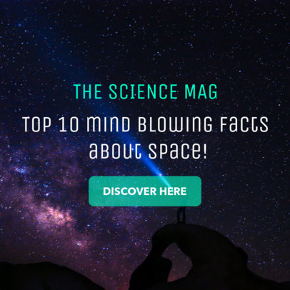 Banner Ad Creator for Science Facts About Space 16610b