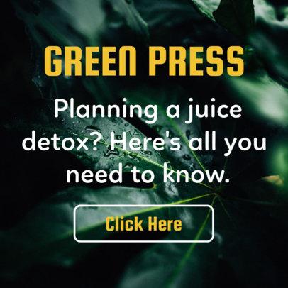 Juice Detox Banner Design Template 16610c
