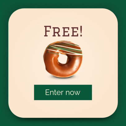 Free Doughnuts Ad Banner Template 518d