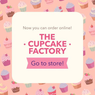 Banner Maker for Bakeries with Cupcake Illustrations 378c