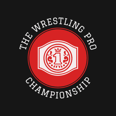 Wrestling Logo Creator for a Professional Championship 1541d