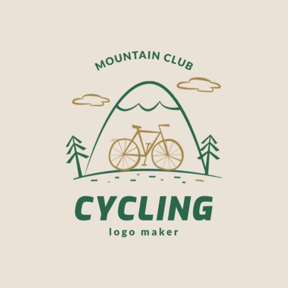 Mountain Bike Logo Maker for a Cycling Club 1574b