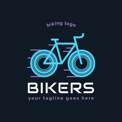 Cycling Logo Maker with a Dynamic Icon 1574e