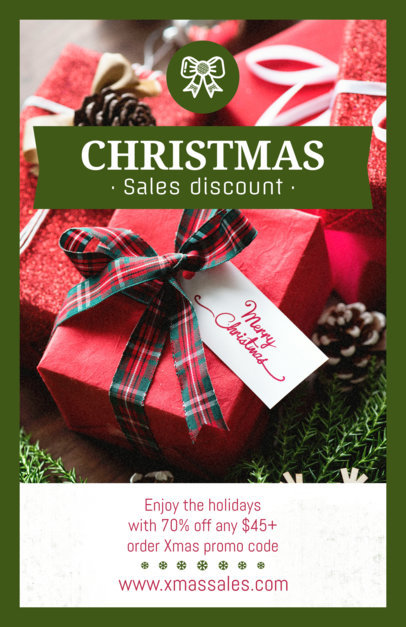 Christmas Flyer Maker for a Holiday Sale 854