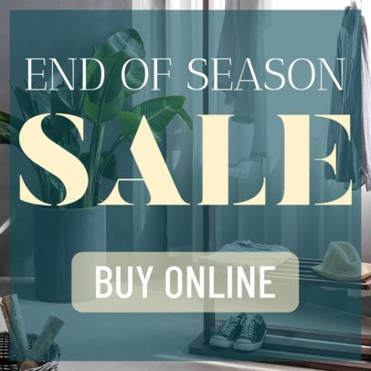 Ad Banner Maker for an End of Season Sale 248b