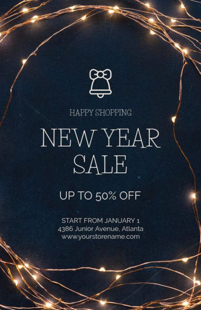 Holiday Season Sale Flyer Template for a New Year Sale 853d