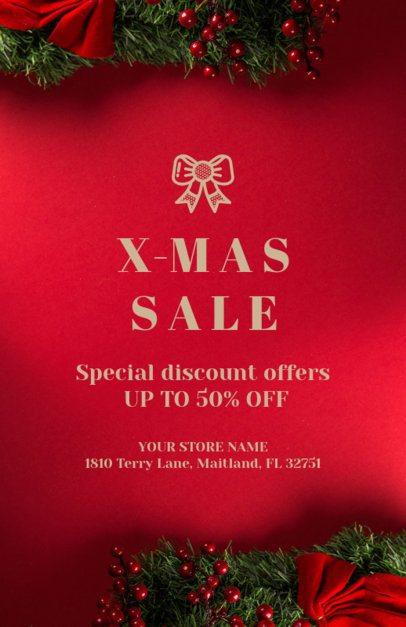 X-Mas Sale Flyer Maker for an Online Christmas Sale 853e