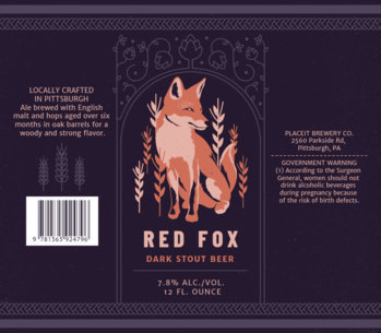 Artistic Beer Label Template with Animal Graphics 768a