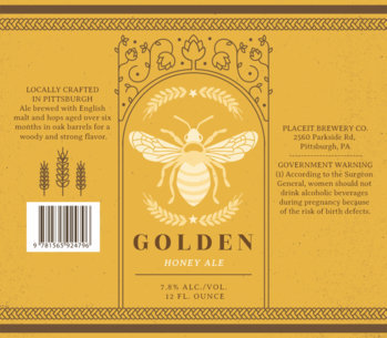 Beer Label Design Maker with Grain Graphics 768b