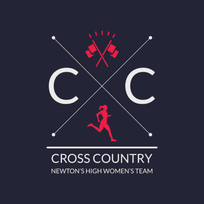 Cross Country Logo Maker for a Women's Team 1568