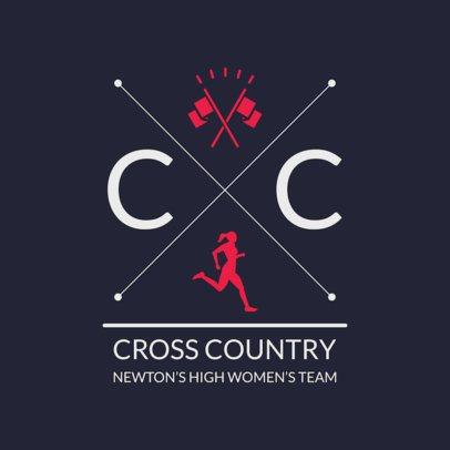 Cross Country Logo Maker for a Women's Team 1568