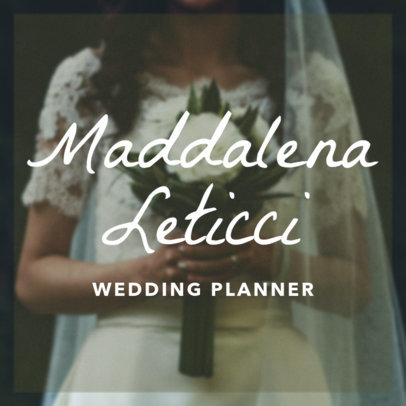Wedding Planner Banner Maker with Pretty Font 366c