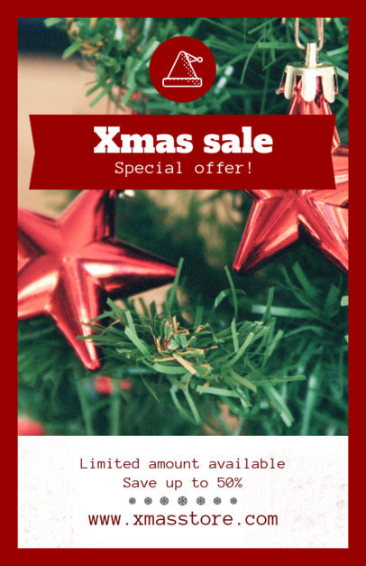 Holiday Flyer Template for an Xmas Sale 854a