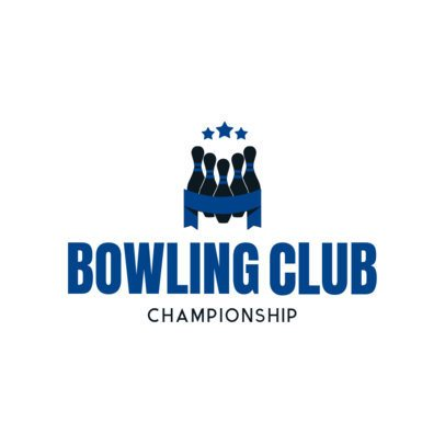 Bowling Logo Maker for a Professional Bowling Club 1588